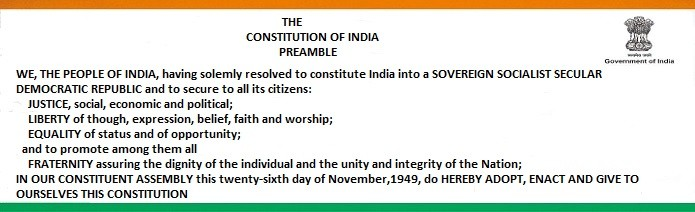 The Constitution of India Preamble